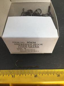 Fish Hooks Wholesale 1000 Hooks Bronze Aberdeen With Extra Long Shank Size 4