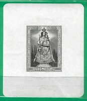 LUXEMBOURG Timbre 1945 Bloc: 4 Notre-Dame de Luxembourg NEUF MNH