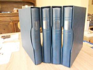 Lindner 4 blaue Ringbinder Regular mit Schuber