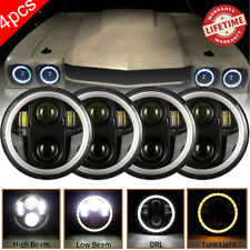"4x5 3/4"" 5.75 CREE Projector LED Headlights Sealed Beam Halo Ring Lamp Bulbs NEW"