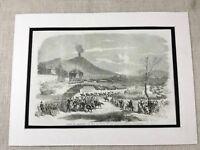 1856 Antique Print Italian Royalty King of Naples Ferdinand II Assassination