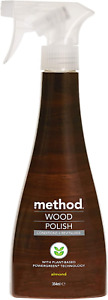 Method Wood Polish Furniture Spray Floor Cleaner For Wood Almond