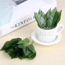 Christmas Wedding Artificial Floral Leaves Decoration Crafts Roses Silk Leaf 50X