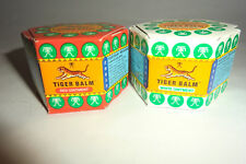 ORIGINAL TIGER BALM  PACK OF TWO ---ONE RED  AND ONE WHITE  9 ML  -SPECIAL PRICE