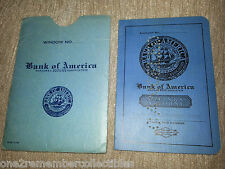 VINTAGE Savings Account Book Booklet BANK OF AMERICA Marked 1941 MONTGOMERY CALI
