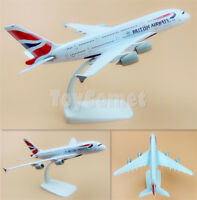 British Airways Airbus A380 G-XLEA Airplane 20cm Solid DieCast Plane Model