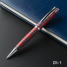 Ballpoint Pen Luxury Pen Black White Red Chessboard With Silvery Clip