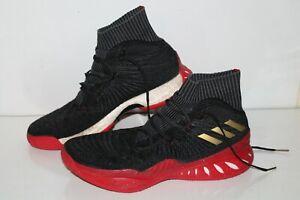 Adidas Crasy Explosive Primeknit Basketball Shoes, CQ1395, Blk/Red/Gold, Mens 13