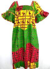 African Wax Dress Size XL Women Dress Square Neckline Bell Sleeve Ankara Maxi #3