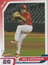 2018 Palm Beach Cardinals Will Latcham RC Rookie St Louis
