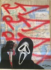 "RD 357 ""Scream"" Graffiti legend on NYC Subway Map no Seen,Cope2,Taki,Jonone,iz"