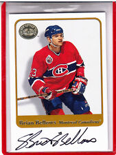 2001-02 FLEER GREATS OF THE GAME BRIAN BELLOWS MONTREAL CANADIENS AUTOGRAPH AUTO