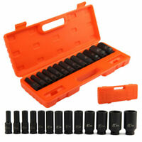 "13pc Impact Socket 1/2"" inch Deep Hand Tool Set 10-32mm Metric Garage Workshop"