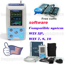 "24h NIBP 2.4""TFT Holter Ambulatory Blood Pressure Monitor ABPM50 + 3 Cuffs"