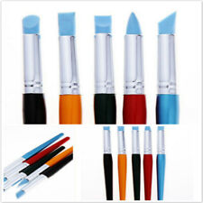 Ceramic Silicone Pen Brush Sculpting Pen Nail Art Wax Soft Head Rubber Pens T