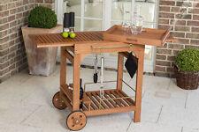 Servierwagen Holz Barwagen Grillwagen COMODORO ausziehbar mit Funktionen, FSC