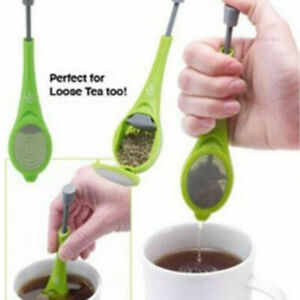 New Infuser Loose Leaf Strainer Herbal Spice Silicone Diffuser G7O9