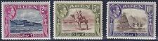ADEN 1939 KING GEORGE VI HIGH VALUES 2R 5R & 10R SG 24 7 HINGED