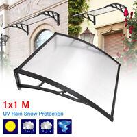 1x1m DIY Window Door Awning Canopy Patio UV Rain Outdoor Cover House Sun Shield