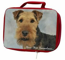 More details for welsh terrier 'love you grandma' insulated red school lunch box/pi, ad-wt1lyglbr