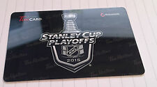 Tim Hortons Stanley Cup Playoffs 2015 Gift Card wow! mint!!