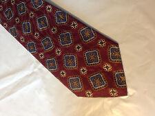 Mens Red Blue Brown Tie Necktie GEOFFREY BEENE~ FREE US SHIP (9088)