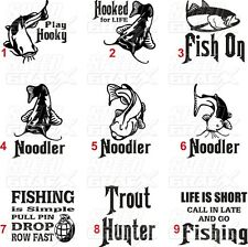FISH DECAL FUNNY QUOTES AND SAYINGS VINYL DECAL WINDOW STICKER FISHING DECAL