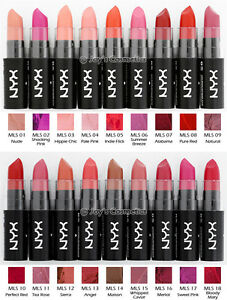 """3 NYX Matte Lipstick - ML """" Choisissez Votre 3 Couleur """" Joy's Produits"""