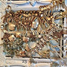 Job Lot 23 Broken Jewellery Vintage Style Crafts Shabby Chic Recycle Repair