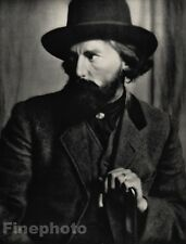 1914/66 Vintage 11x14 AUGUSTUS JOHN Welsh Artist Photo Art ALVIN LANGDON COBURN