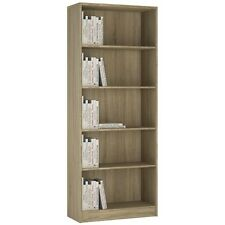 4 You Sonoma Oak Home Living Furniture Tall Wide Bookcase 5 Shelf Storage Unit
