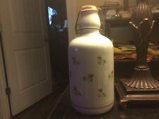 Porcelain Bottle/Jar-W/Rose Buds-French Country/Cottage Design--Stopper-Lovely!!