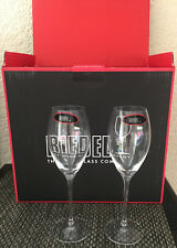 BOLLINGER CHAMPAGNE FLUTES X 2  RIEDEL RARE BRAND NEW UNBOXED
