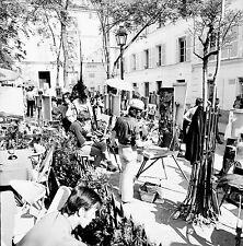 PARIS c. 1960 - Montmartre Peintres Place du Tertre - Négatif 6 x 6 - N6 P78
