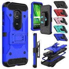 For Motorola Moto G6 Play / E5 Case Holster Clip Stand Hybrid Shockproof Cover