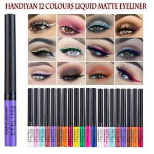 Long Lasting 12 Colours Matte Waterproof Liquid Eyeliner Stunning Eye Liner Pen