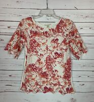 Porridge Anthropologie Women's XS Extra Small Coral Spring Summer Top Blouse