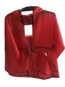 NWT Hunter Boots Original Vinyl Smock Rain Coat RED size M Jacket