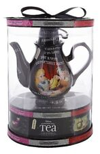 Alice In Wonderland Teapot Gift Set 4 Flavors Tea Disney World Theme Parks NEW