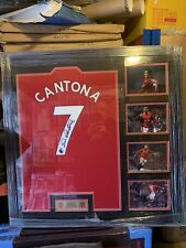 Manchester United Signed Eric Cantona Framed Shirt  SUPERB ITEM Value @ £299