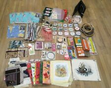 Vintage Huge Craft Sewing Stitching Lot Various Misc Pieces Random