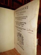 Bandi. PROVISIONE per la quale si proibisce il giuocare a qual si vogli...(1569)