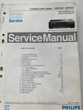 CDC925 / CDC935 Compact disc player Philips Service manual
