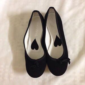 Woolline Black Ballerina Flats Size 38