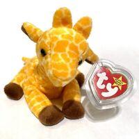 Ty Beanie Baby TWIGS Giraffe w/ Tag ERRORS Plush Toy RARE PVC NEW RETIRED 1995