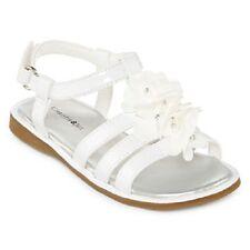 Christie & Jill Sadie White Flower Sandals Shoes Girls Size 10 NEW