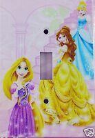 Girls Disney Princess Light Switchplate Wallplate Cinderella Belle Rapunzel New