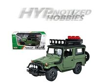 MOTOR MAX 1:24 TOYOTA FJ40 LAND CRUISER DIE-CAST GREEN 79137