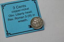 USA 3 CENTS 1867 NICE SHARP DETAILS B18 #Z8443