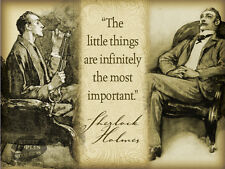 SHERLOCK HOLMES QUOTE VINTAGE   RETRO STYLE WALL METAL SIGN HOME DECOR GIFT 1